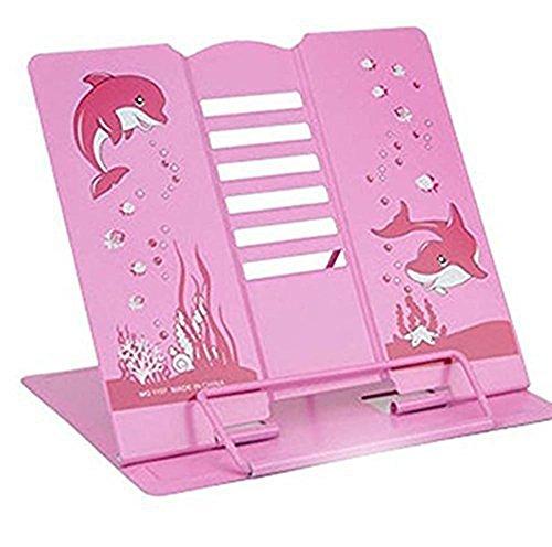 LH247 Leseständer Buchhalter Buchständer Metallbügel rosa