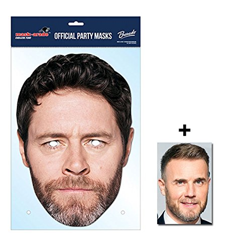 Howard Donald Take That Official Take That Single Karte Partei Gesichtsmasken (Maske) Enthält 6X4 (15X10Cm) starfoto (Promi Familien Kostüm)