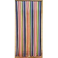 Provence Outillage - Cortina de puerta con tiras de plástico, multicolor, 90 x 200 cm