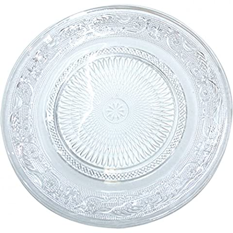 3x Glass Plates, Serving Plates, Cake and Dessert Plates,