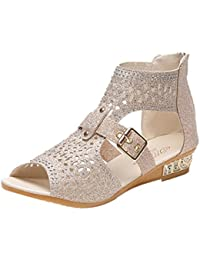 73a6c67115c69 Xinxinyu Sandales Chaussures Femme Mode Bouche de Poisson Ete Sandales  Femmes Tongs Plateforme Chaussures