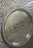 Silbertablett T541 Tablett Tablett silber verschiedene Größe 58,5cm Durchmesser, Höhe 7cm, (4.40Kg)
