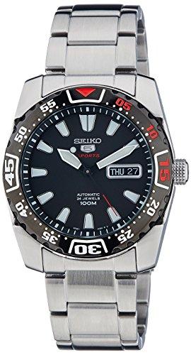 Seiko Herren-Armbanduhr XL Analog Automatik Edelstahl SRP167