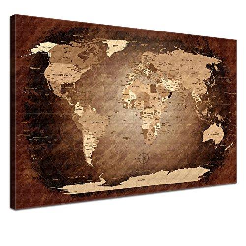 Die Schweiz-antiken-karte (LANA KK - Weltkarte Leinwandbild mit Korkrückwand zum pinnen der Reiseziele -