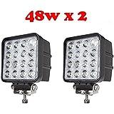 tanli 48W LED Spot Lampe de Voiture Phare de travail LED Feux Diurne lumière de la lumière des phares de Campo A Traves de SUV UTV ATV phares 2PC