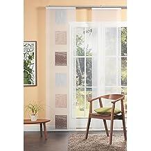 Home fashion 87982-740 panel japonés, Voile-Scherli, 245 x 60 cm, marrón