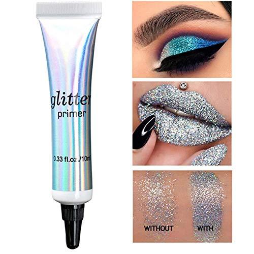 E-CHENG Glitter Primer, Eye Shadow Primer, Makeup Eye Shadow Lipstick Base Primer Foundation Highlighter Cream -