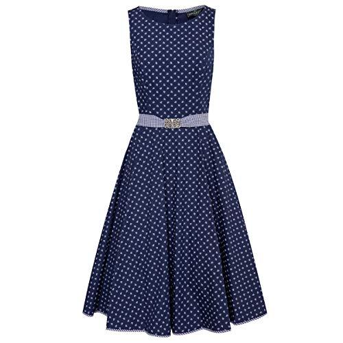 Sehr Kostüm Günstige - Berwin und Wolff Damen Trachten-Mode Kleid Lorle in Dunkelblau traditionell, Größe:42, Farbe:Dunkelblau