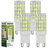 MENGS® Pack de 4 Bombilla lámpara LED 5 Watt G9, 51x 2835 SMD, blanca fría 6500k, AC 220V-240V