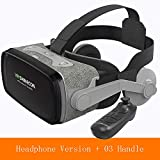 HUIJIN1 VR-Headset, Virtual Reality Headset für iPhone Mit Remote Controller & Android, Ihren besten Mobile Games 360 Movies Smartphone & Comfortable New Goggles,b