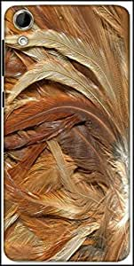 Snoogg Feathers 3 Texture Designer Protective Back Case Cover For HTC Desire 728