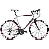 71.12 cm pulgadas bicicleta ALU bicicleta chrisson recargador con 24 G Sora/Claris Carbon fork Rodi airline 59 cm blanco rojo