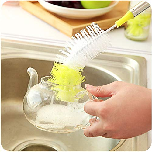 Cleaning Brushes - 1pc Multifunction Bottle Brush Cleaning Tube Cup Flexible Long Handle Nylon Hair Brushes Cleaner - Walls Makeup Cleaning Bristles Shower Make Wine Attachment Dishes Angle Ceil - Air-spot Drill