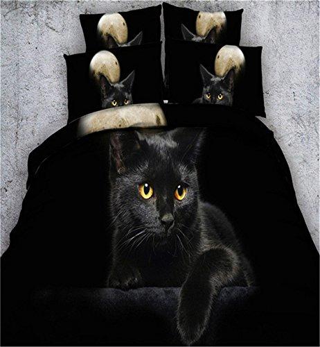 dodou 3d Digital de edredón Lovely gato negro ropa de cama 100%...
