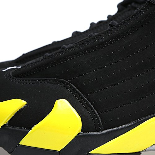 Nike Uomo Air Jordan 14 Retro scarpe sportive black/vibrant yellow-white