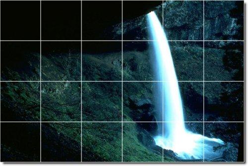 CASCADAS FOTO MURAL DE AZULEJOS PERSONALIZADOS 3  48X 182 88CM CON (24) 12X 12AZULEJOS DE CERAMICA