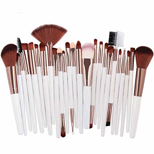 ESAILQ 25PCS Pinceau de maquillage Professionnel Teint Eyebrow Shadow Makeup Blush Kit Pinceau Ensemble brosse à maquillage Brosse à maquillage Maquillage Outils (C)