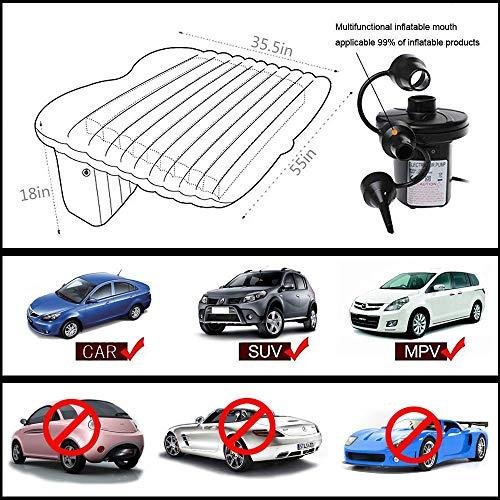 Tishnagi Designer Multifunctional Inflatable Car Bed Mattress with Two Air Pillows, Car Air Pump and Repair Kit (Multi Coloration) Image 5