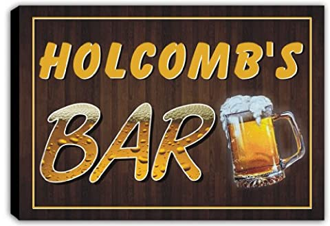 scpv1-1959 HOLCOMB'S Bar Beer Mug Pub Stretched Canvas Print Sign