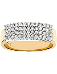 Naava Women's 9 ct Yellow Gold Diamond Ring