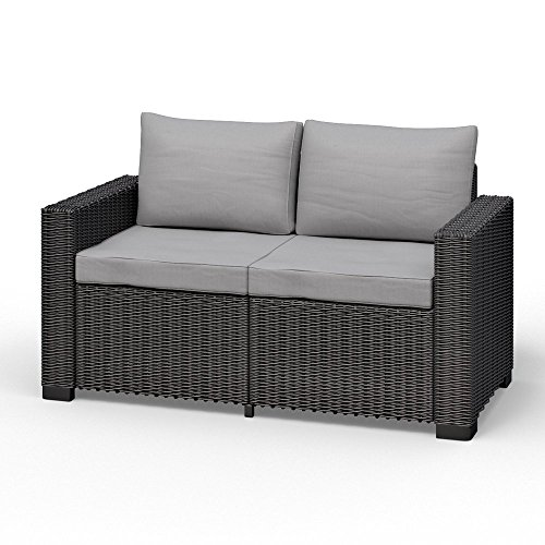 Koll Living 2-Sitzer San Diego in anthrazit, passend für Loungesets, Möbelsets und Gartenmöbel in...