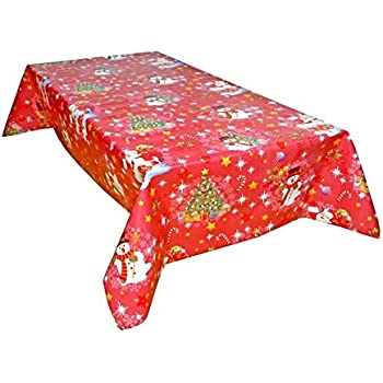F185-2 Christmas PVC Wipe Clean Vinyl Tablecloth  ALL SIZES  Code
