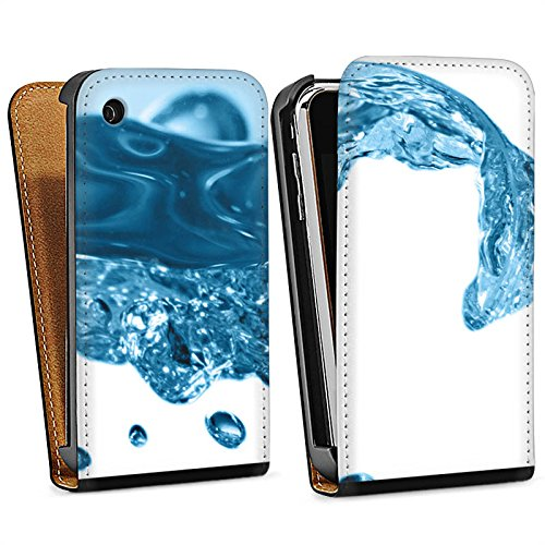 Apple iPhone 5s Housse étui coque protection Eau Water Gouttes Sac Downflip noir