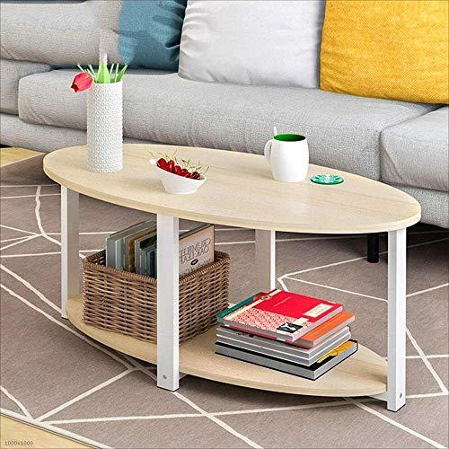 BinLZ-Table Wohnzimmer Beistelltisch Kleiner Runder Tisch Ecktisch Büro Computer Couchtisch Teetisch, Ahorn Kirsche, 120 * 60 cm