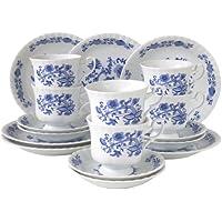 Creatable, Servizio da caffè in porcellana, 18 pz., Blu