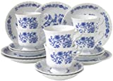 Creatable 11695 Serie Ivona Zwiebelmuster, Kaffeeservice, Porzellan, mehrfarbig, 18 Einheiten