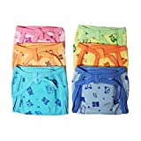 #7: CRACK4DEAL Multi-Colored Medium Size Padded Hozri Nappies With Leakage Protection (Set of 6)