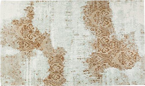 Kare Design Teppich Kelim Ornament, Läufer im Vintagestil, Wohnzimmerteppich, Vorleger mit verschiedenen Farbnuancen, Orange-Grau (H/B/T) 1x240x170cm