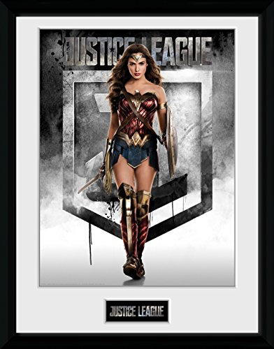 GB Eye Gerahmtes Poster Justice League Wonder Woman, Diverse, 30 x 40 cm -