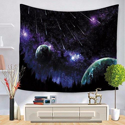 Eazyhurry Amazing Planet Galaxy Outer Space Bedrucktes Strandtuch, Überwurf, Decke, Wandbehang, Tischdecke, Yogamatte, Picknickmatte, Blue Planet, 59