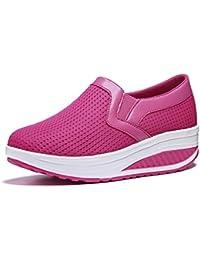 WYSBAOSHU Zapatos de Malla Para Mujer Zapatillas de Deporte Transpirables Zapatos Ligeros Para Mujer