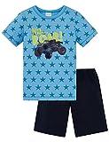 Schiesser Jungen Pyjama kurz 161303, hellblau, 128