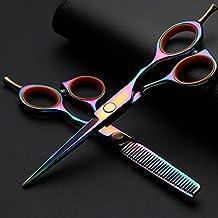 UWILD® tijeras de peluquería profesional Set Tijeras profesionales del pelo Set de tijeras de peluquería Juego de 5,5 pulgadas 15,5 cm (juego de 2) Incluye bolsas de cuero y peine