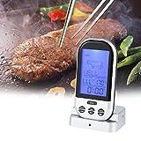 Zerodis BBQ Thermometer Drahtlos Bratenthermometer Nahrungsmittel Grillwerkzeug mit LED Display für Süßigkeit kochende Milch Tee Küche