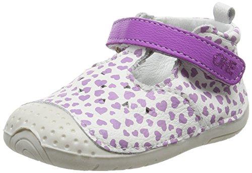 Babybotte Zumba2, Scarpe per Bambini, Colore Viola (Blanc Coeur Violet 397), Taglia 19 EU (6-9 Mesi UK - Taglia 03)