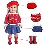 Puppe Kleidung 4 STÜCKE Outdoor Casual Outfit Tragen Kleider für 18 zoll Amerikanische puppe und andere 43-46 cm puppen