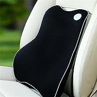 Auto ufficio rimbalzo basso memoria schiuma massaggio schiena cusion proteggendo e sostenendo la vita , black