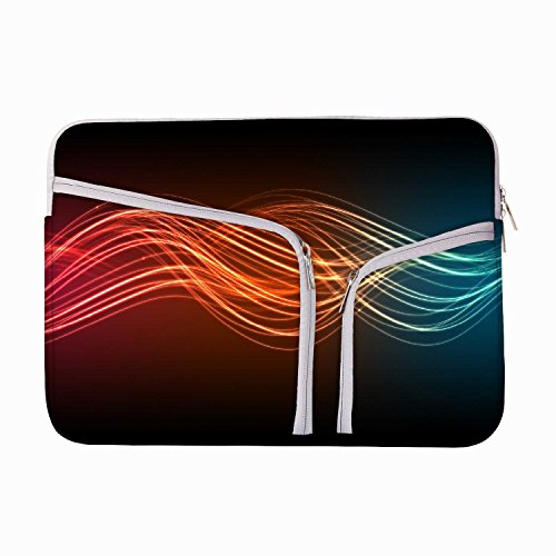 Abstraktes Neon Muster Design 13zu 34,5cm Schutzhülle Sleeve Tasche für MacBook Air 13/Pro 13Retina/Oberfläche Book/iPad Pro & 33cm Acer Dell HP Toshiba Saumsung Asus Chromebook Laptops (türkis) (Neon Macbook Air 13 Zoll Case)
