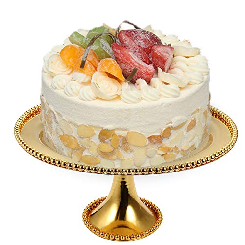 EgBert Round Cake Stand Vintage Metal Cupcake Wedding Event Party Display Tower Plate
