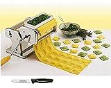 Küchenprofi Ravioli Aufsatz + Edelstahlstyling Universalmesser im Set