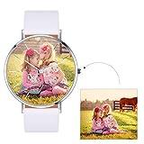 Custom4U Personalizado Reloj de Pulsera Impermeable con Movimiento de Cuarzo Japonés para Hombre y...
