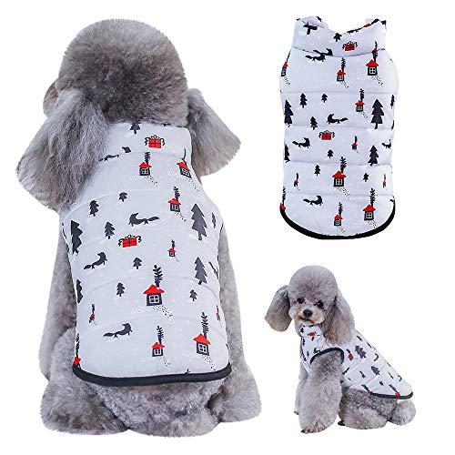 Berrose-Katze Hund Warme Weste Heimtierbedarf Kleidung Winterbekleidung Welpen Kostüm Hundekleidung Weste Jacken-Hundemantel Hundejacke für Kleinen Hund/Katze gepolsterte Winter-Kleidung