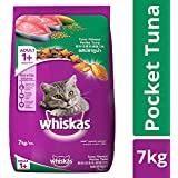 Whiskas Adult (+1 Year) Dry Cat Food Food, Tuna Flavour, 7kg Pack