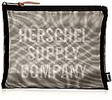 Herschel Network Large - Mesh Pouch Taschenorganizer, Schwarz/Weiss Screenprint