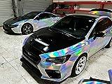 3D HOLOGRAPHIC Chrom RAINBOW für Car Wrapping, Spiegelfolie, Effektfolie Farbmuster 10cm x 10cm