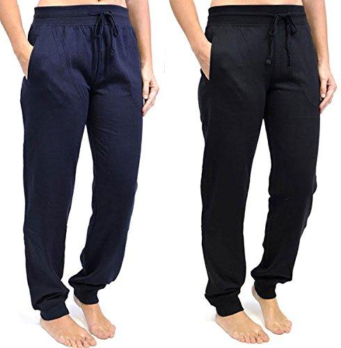 Tom Franks - Pantalon de sport - Pantalon - Femme Multicolore - Black-Navy
